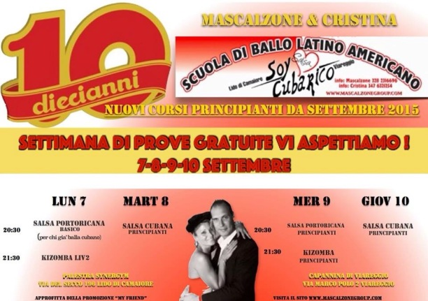Dieci anni Soy Cubarico 2005-2015 Cristina Martinelli Mascalzone Latino DJ Massimo Pacini